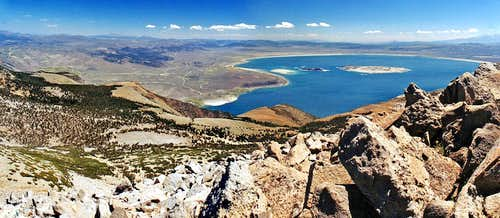 Mono Lake pano from Lee Vining Peak