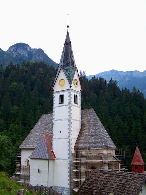 The parish church of Solcava