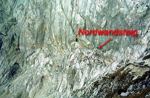 A section of the Nordwandsteig