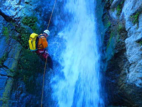 Canyoneering in San Gabriel Mountains