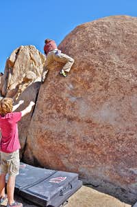 Bouldering near the parking lot