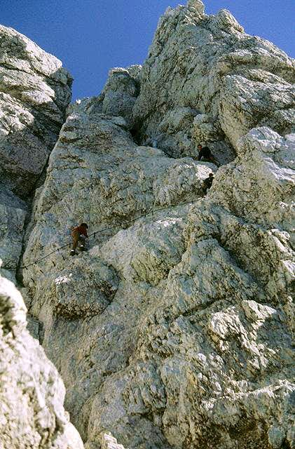 Alpspitz-Ferrata near the...