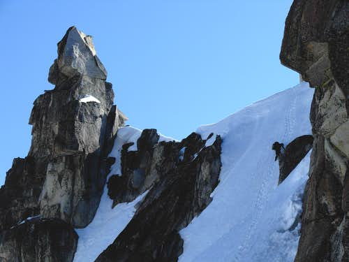 Josh Descends The Snow Crux