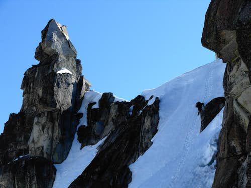 Josh Descends The Snow Crux