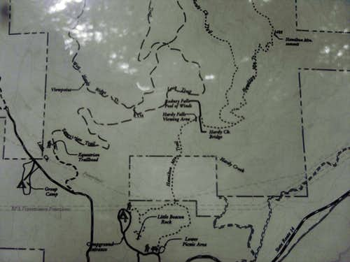 Map with Little Beacon Rock Trail