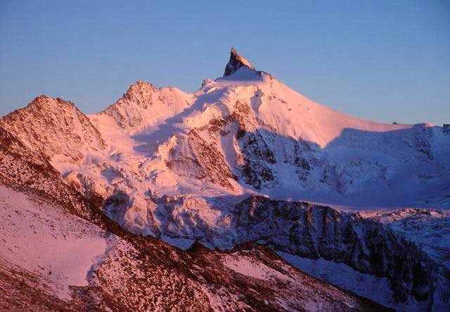Sunset on Zinalrothorn, the...