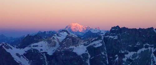 The Mont Blanc at the sunrise...
