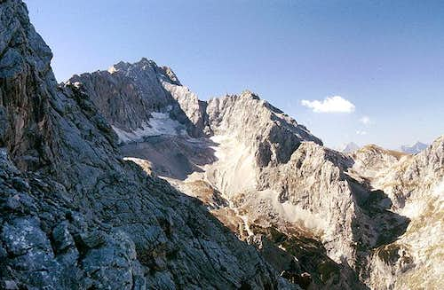 Look across to Zugspitze with...