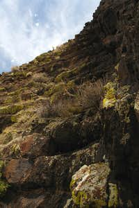 The upper part of Gully 1 Route