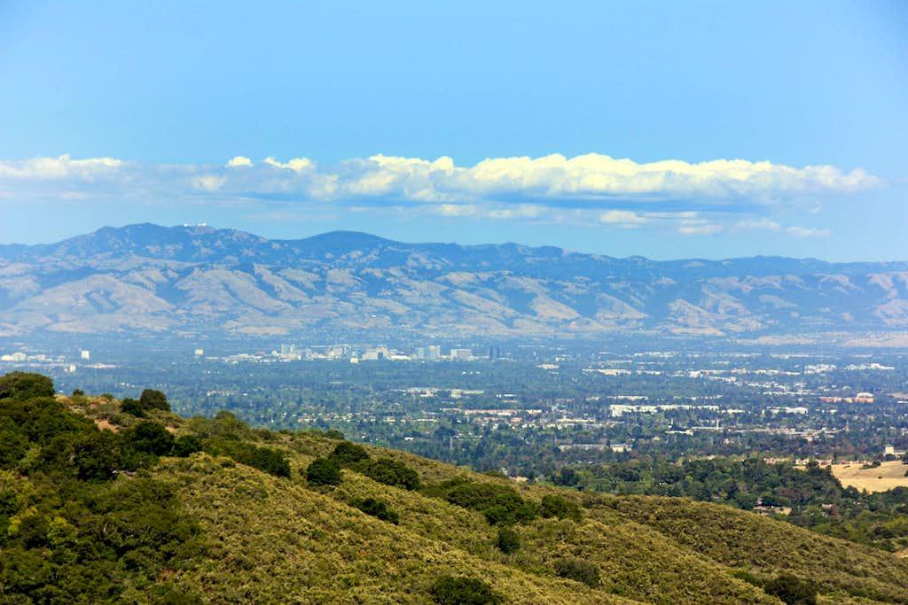 Diablo Range from Black Mtn. trail