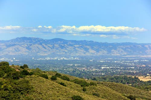 Diablo Range from Black Mtn. trail