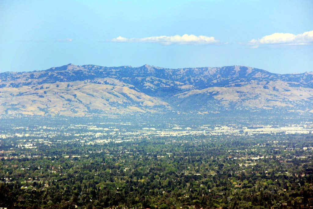 Black Mountain, 3,951'  and Mt. Day, 3,869'  in the Diablo Range