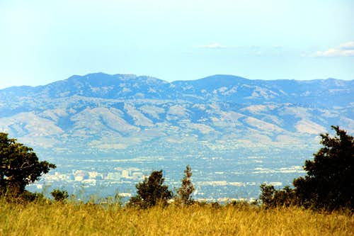 Copericus Peak, Mt. Hamilton  (with Lick Observatory) and Mt. Isabel