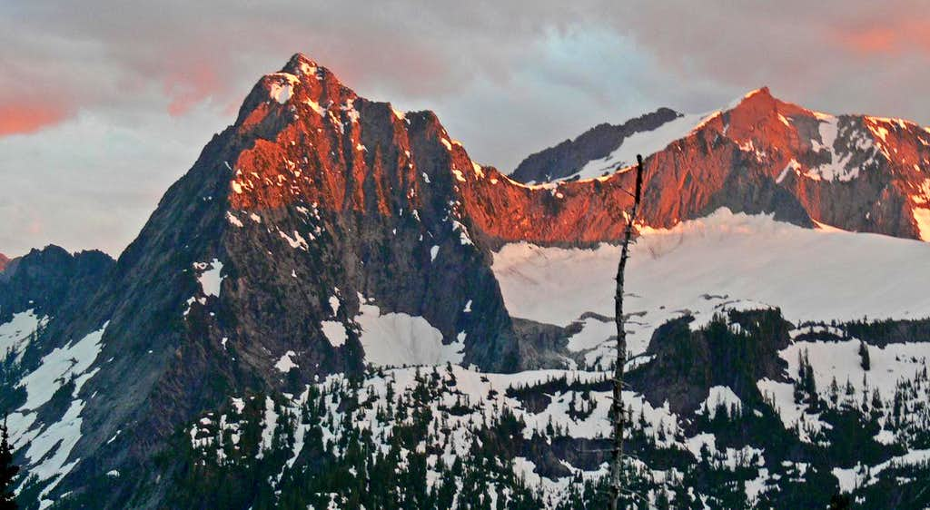 Alpenglow on Vesper and Sperry
