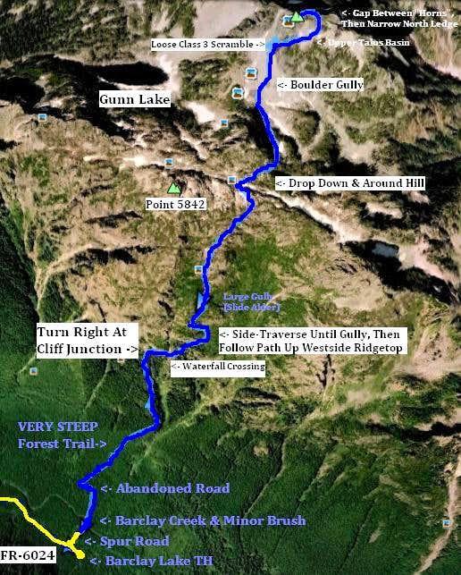 Gunn Peak - Aerial Of Route