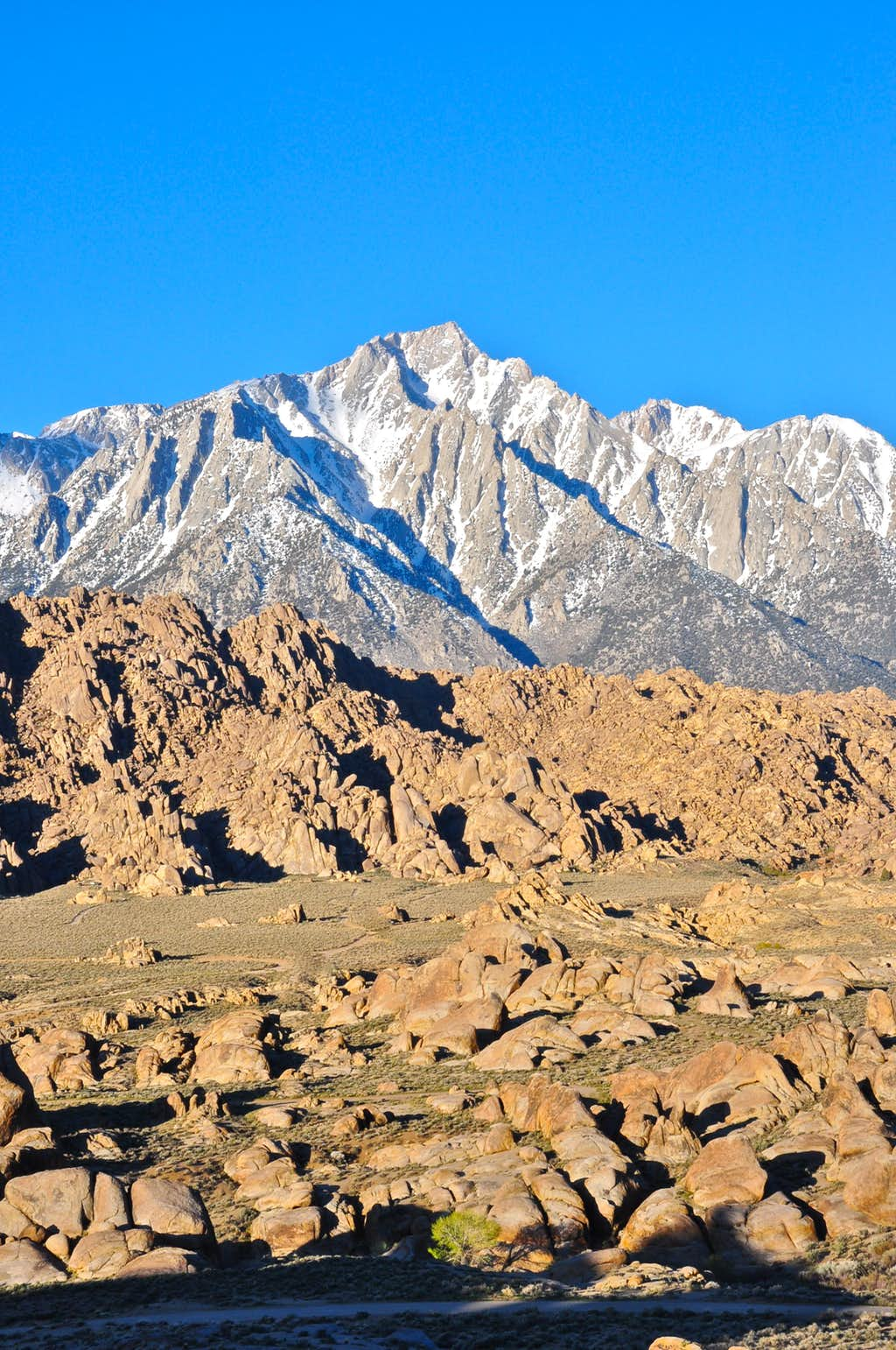Looking down on the Alabama Hills