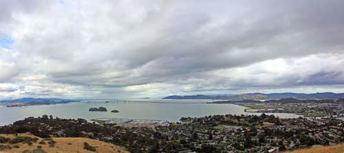 Storm clouds over San Pablo Bay