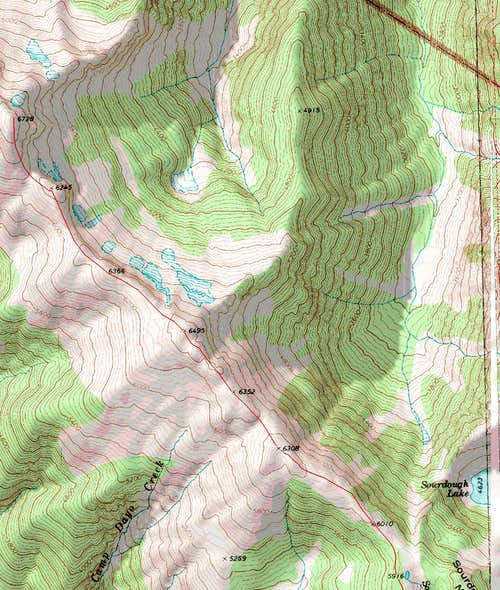 Upper Stetattle Ridge Topo Map