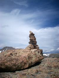 Bighorn Mountain summit cairn