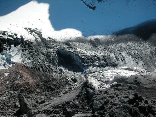 Vent on the Crater Glacier...