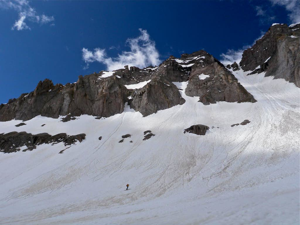 Approaching North Couloir