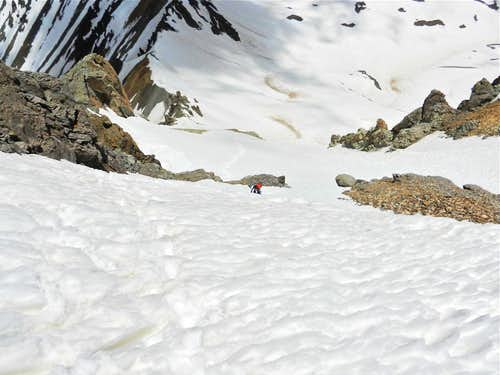 Climber in Northwest Couloir