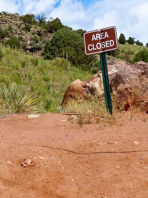 Mount Morrison Trail Closure