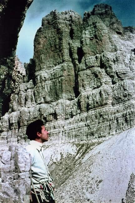 The wall of Croda Cimoliana,...