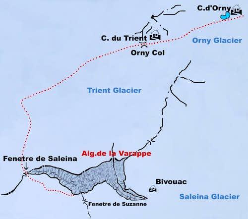 Aiguille de la Varappe map