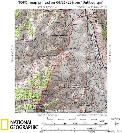 Mount Morrison North Ridge Route