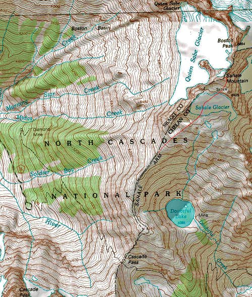 Sahale Glacier Route Map
