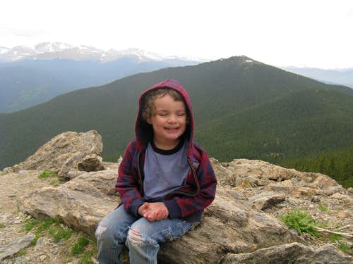 My son's first summit