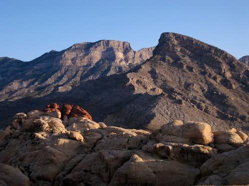La Madre Mountain, Turtlehead Peak, and Red Cap