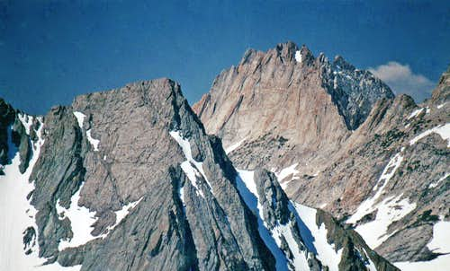 Whorl Mountain, 12,033'  from the  Crater Crest