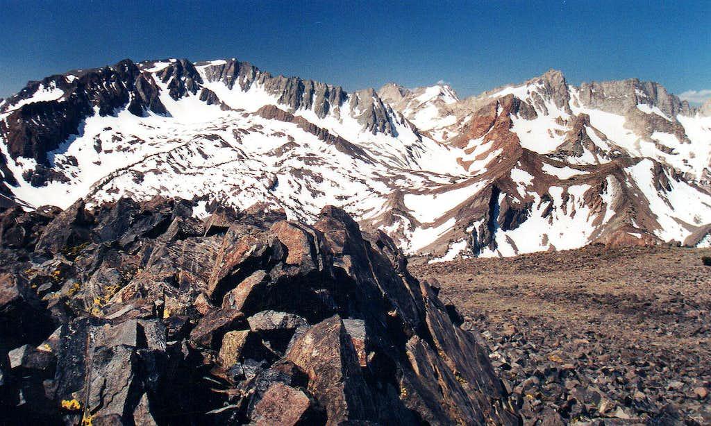 Twin Peaks, Matterhorn Peak and Sawtooth Ridge
