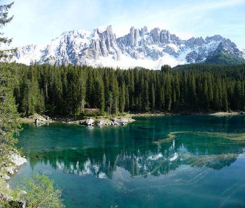 Latemar and Lago Carezza