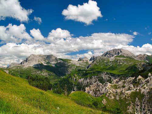 Wösterspitze (2558m) and Rüfispitze (2632m)