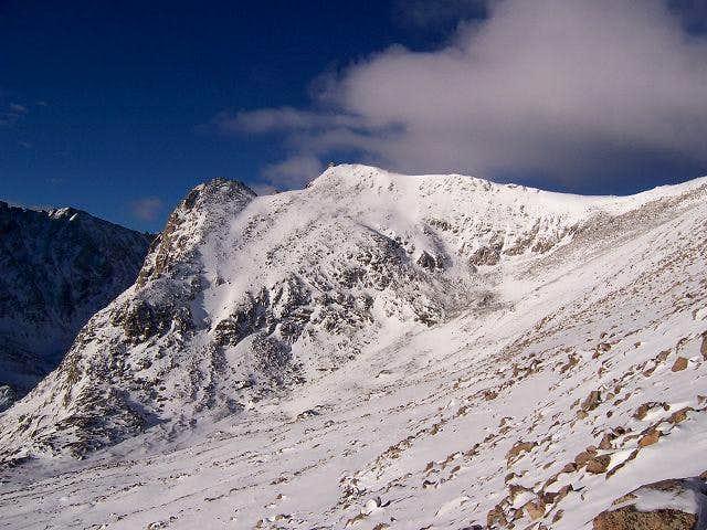 Shoshoni Peak under the...