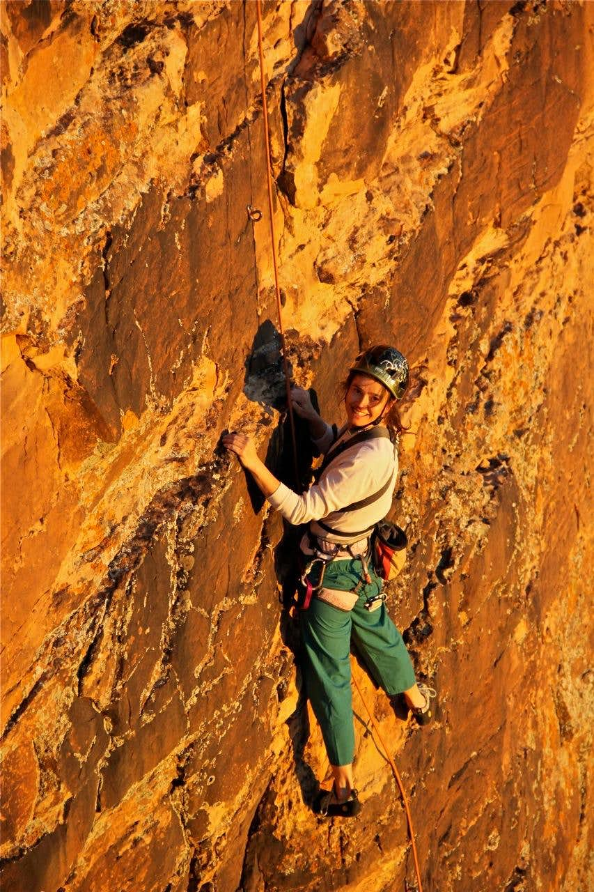 Soloing with Ushba ascender