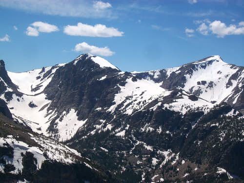 Otis Peak and Hallett Peak