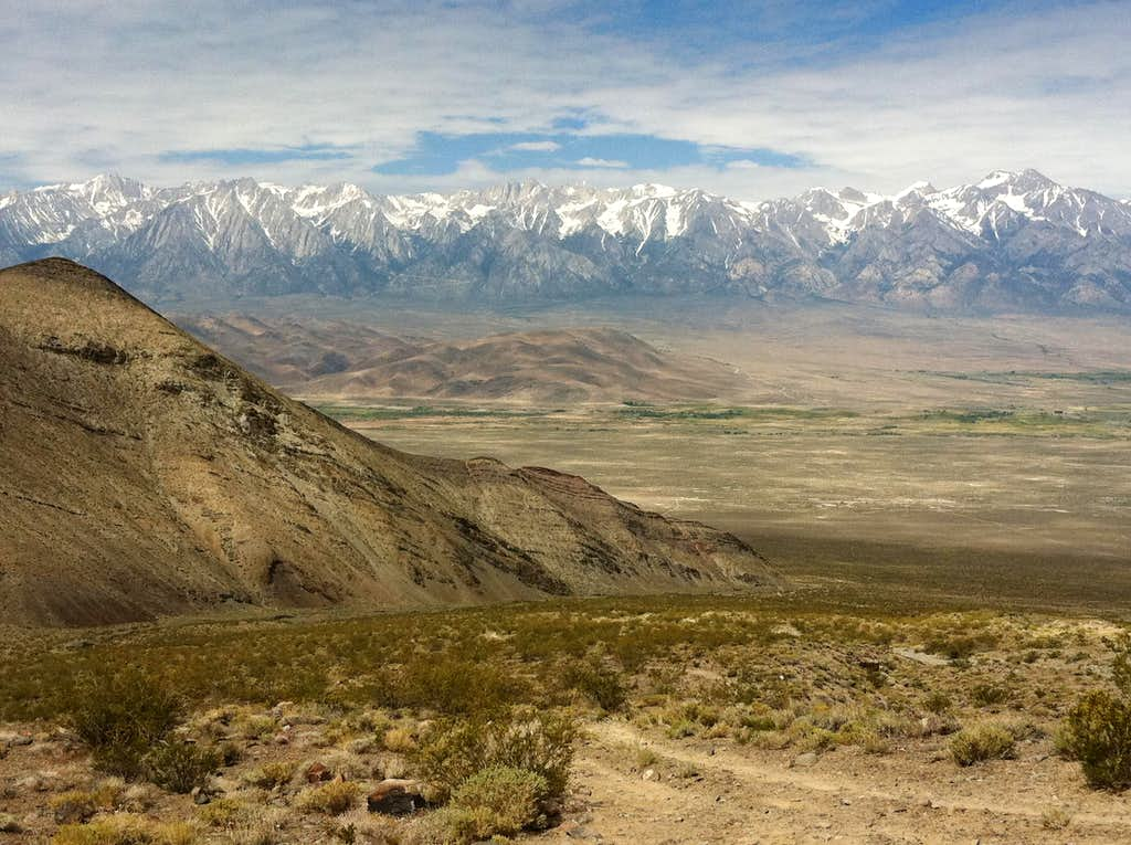 Sierra Nevada from the slopes of Mt Inyo