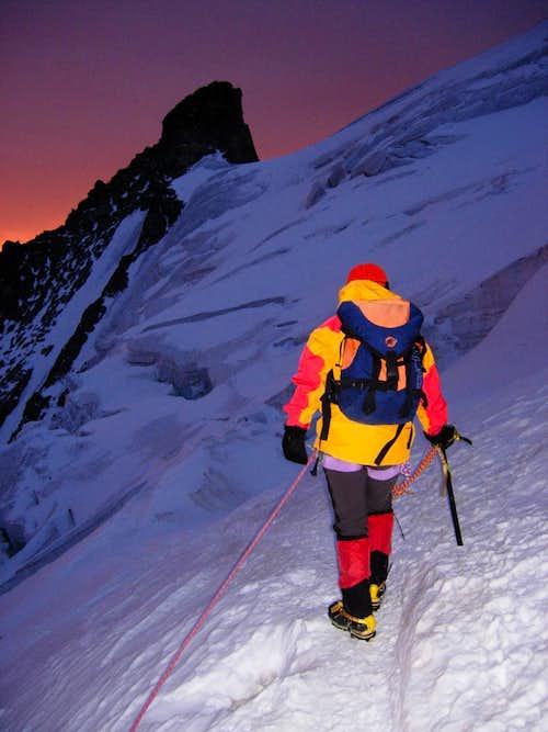 Climbing Barre des Ecrins