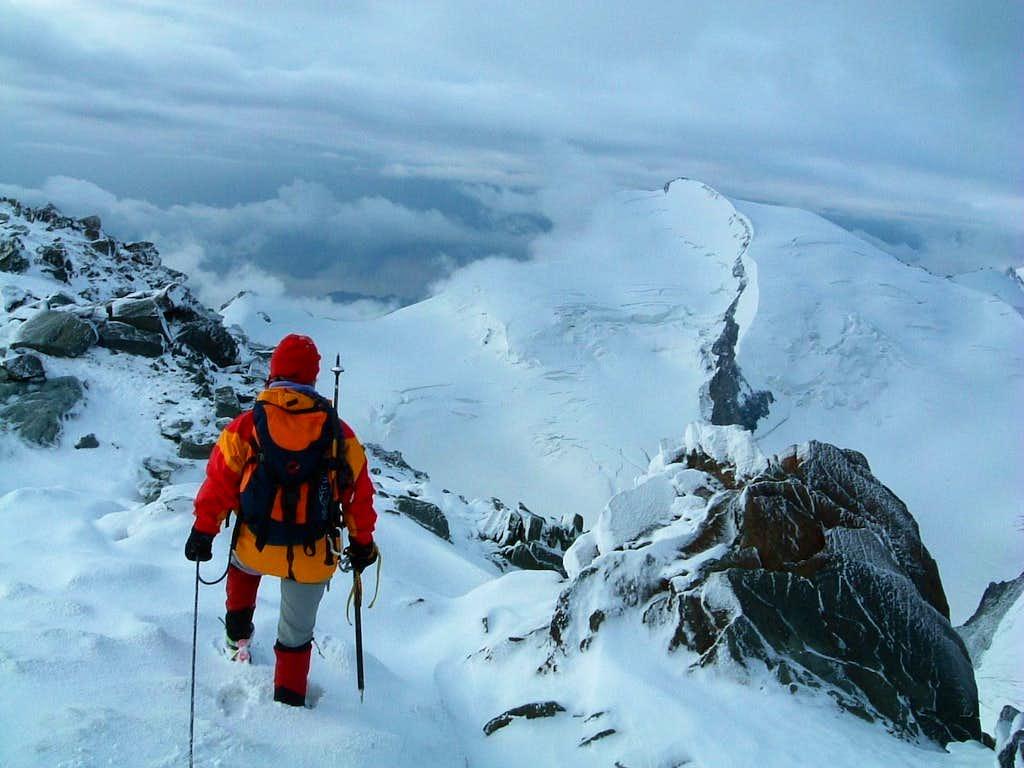 On the top of Allalinhorn
