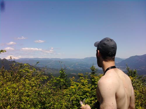 Looking out from the summit of Hamilton Mountain