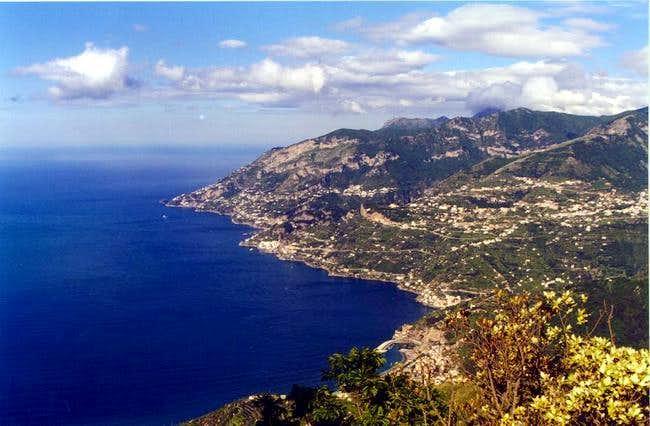 Panorama of amalfitan coast...