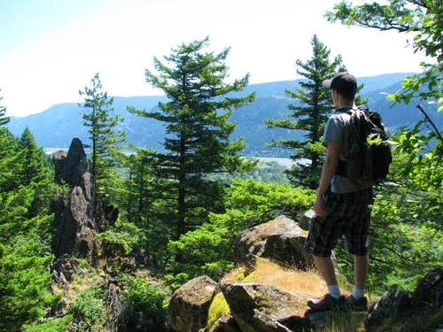 near the summit of little beacon rock