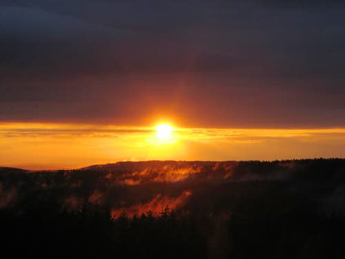 The Harz Mountains at sunset
