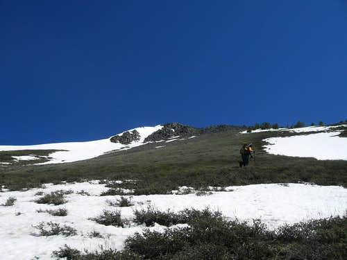 Ascending the South Face