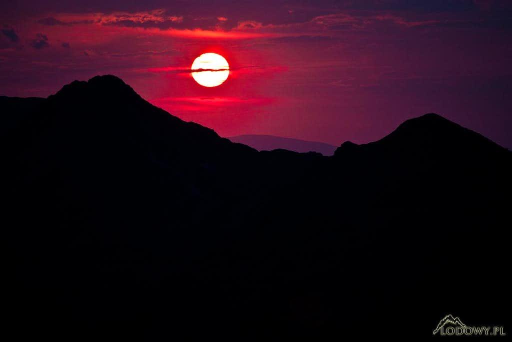 Sunset over Ticha valley