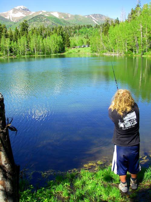McClellan Lake with Loafer Peak